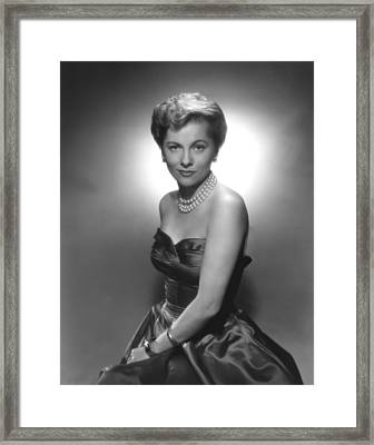 Joan Fontaine, Ca. 1950s Framed Print by Everett
