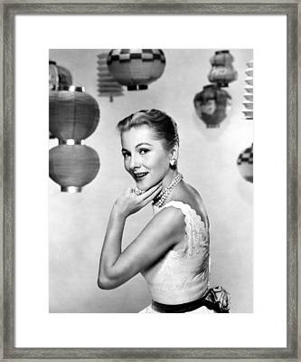 Joan Fontaine, Mgm, 1957 Framed Print by Everett