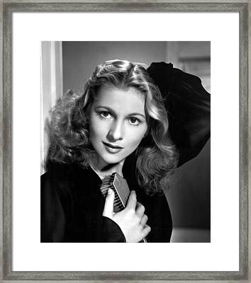 Joan Fontaine, Portrait, 1940s Framed Print by Everett