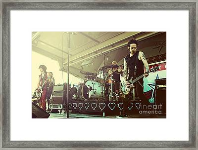 Joan Jett And The Black Hearts Framed Print by Billie-Jo Miller