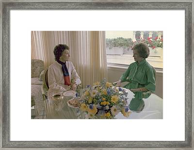 Joan Mondale Wife Of Vice President Framed Print by Everett