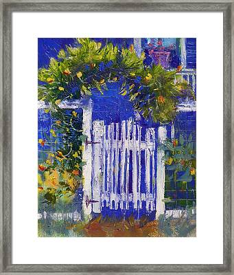 Framed Print featuring the painting Joan's Gate by Gertrude Palmer