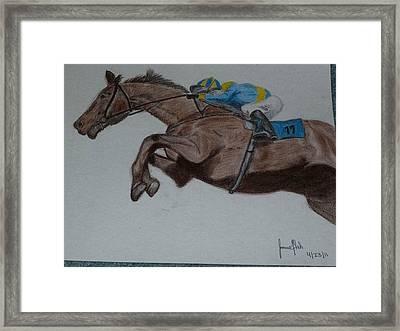 Jockey Framed Print by Jamie Mah
