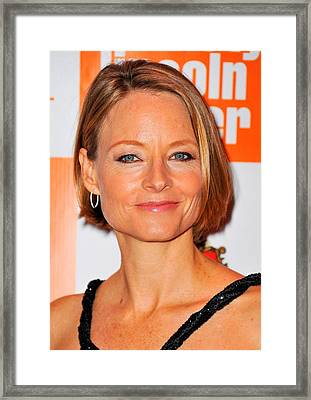 Jodie Foster At Arrivals For Carnage Framed Print by Everett