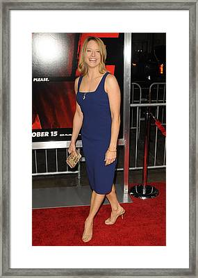 Jodie Foster At Arrivals For Red Framed Print