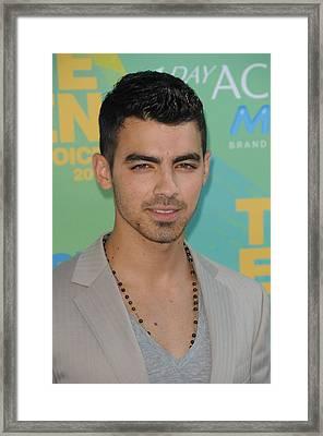 Joe Jonas At Arrivals For 2011 Teen Framed Print by Everett