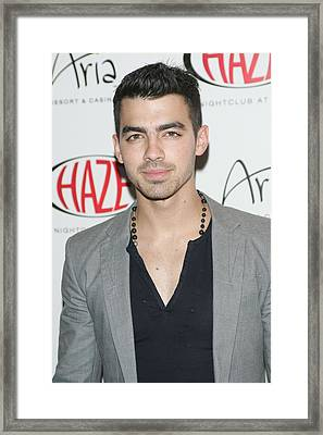 Joe Jonas In Attendance For Joe Jonas Framed Print