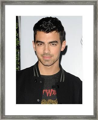 Joe Jonas In Attendance For The 7th Framed Print by Everett