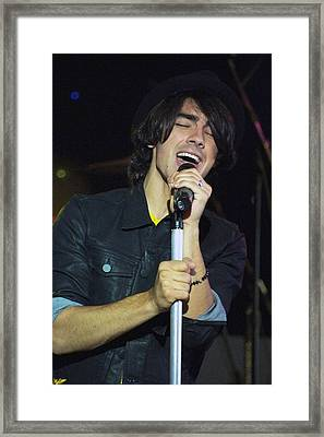 Joe Jonas In Attendance For The Ross Framed Print by Everett