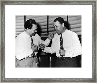 Joe Louis And Max Schmeling Mock Box Framed Print