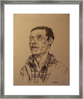 Joe Framed Print by Ray Agius
