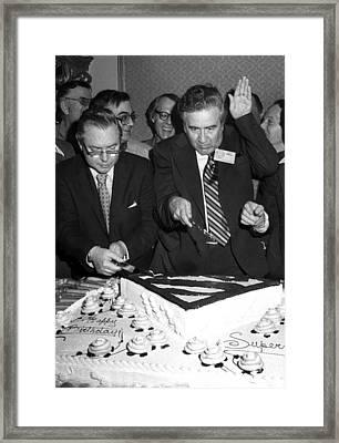 Joe Shuster, With Jerry Siegel Framed Print by Everett