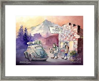 Joe's Donuts Framed Print by Michael David Sorensen