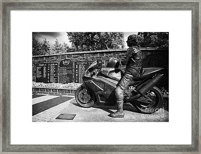 Joey Dunlop Memorial Garden Ballymoney Framed Print