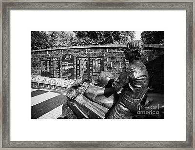 Joey Dunlop Memorial Garden In Ballymoney County Antrim Framed Print