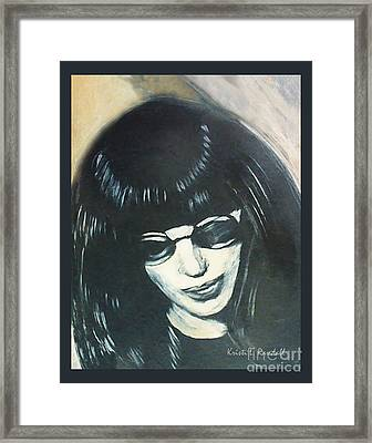 Joey Ramone The Ramones Portrait Framed Print by Kristi L Randall