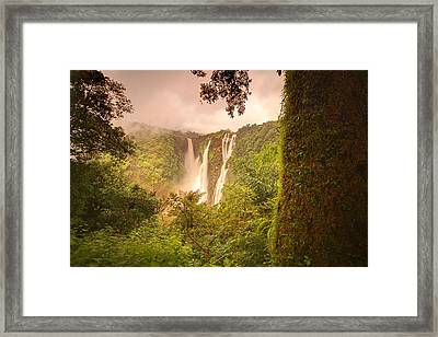 Jog Falls Framed Print by Photograph by Arunsundar