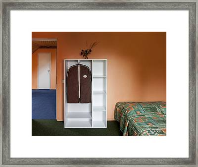 Jogeva County A Bedroom With Ochre Framed Print by Jaak Nilson