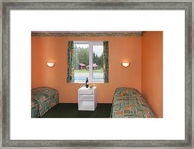 Jogeva County A Bedroom With Two Beds Framed Print by Jaak Nilson