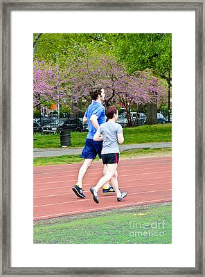Jogging Framed Print by Photo Researchers