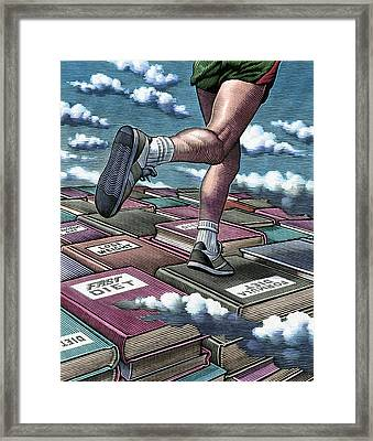 Jogging To Lose Weight Framed Print by Bill Sanderson