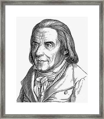 Johann H. Pestalozzi Framed Print by Granger