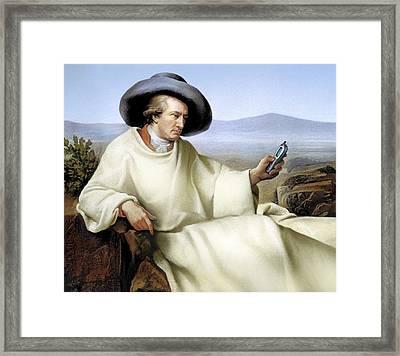 Johann Von Goethe, German Author Framed Print by Smetek