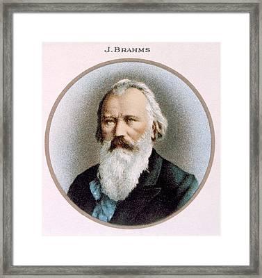 Johannes Brahms 1833-1897 Framed Print by Everett