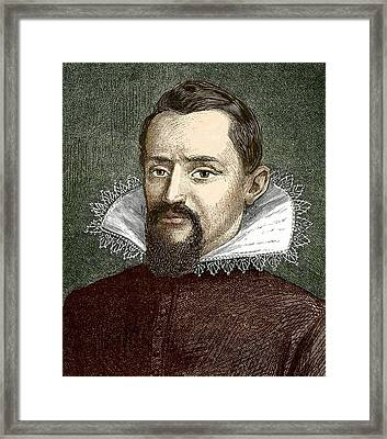 Johannes Kepler, German Astronomer Framed Print by Sheila Terry