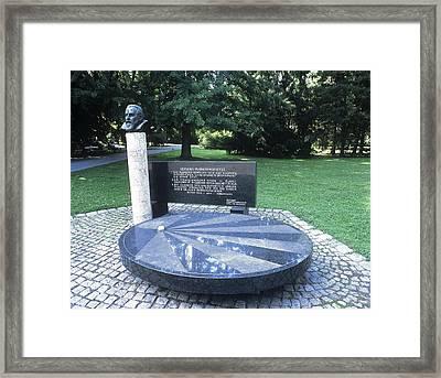 Johannes Kepler Monument, Austria Framed Print by Martin Bond