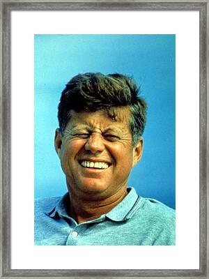 Johh F. Kennedy Framed Print