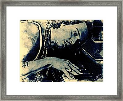 Johhny Depp - Plays Piano Framed Print