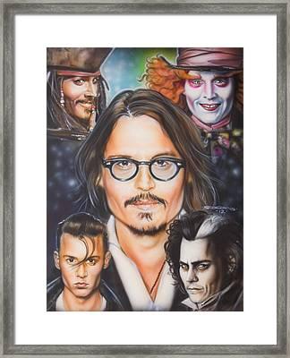 Johhny Depp Framed Print by Timothy Scoggins