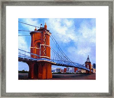 John A. Roebling Bridge Framed Print