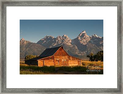 John And Bartha Moulton Barn Framed Print by Stuart Wilson and Photo Researchers