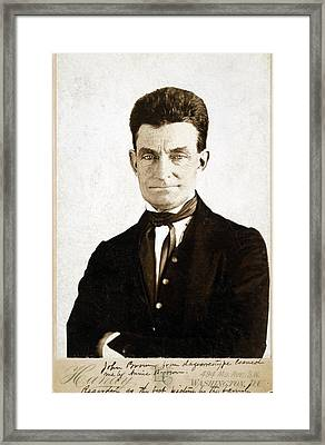 John Brown 1800-1859, Cabinet Card Framed Print