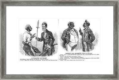 John Brown Cartoon, 1859 Framed Print by Granger