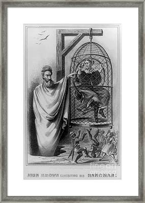 John Brown Exhibiting His Hangman, 1863 Framed Print