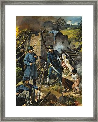 John Brown On 30 August 1856 Intercepting A Body Of Pro-slavery Men Framed Print by Andrew Howart