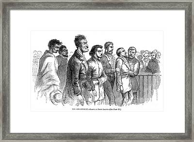 John Brown Trial, 1859 Framed Print by Granger