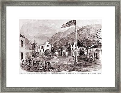 John Browns Harpers Ferry Insurrection Framed Print by Everett