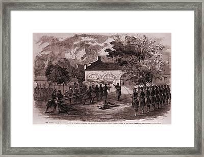 John Browns Insurrection.   While Framed Print by Everett
