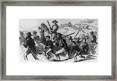 John Browns Raid Framed Print by Photo Researchers