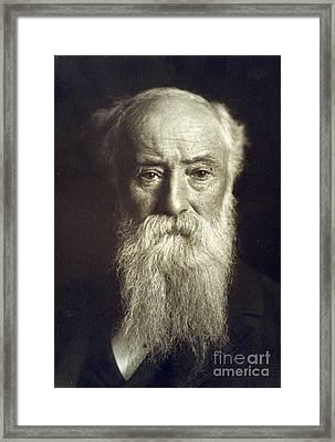 John Burroughs, American Naturalist Framed Print by Photo Researchers