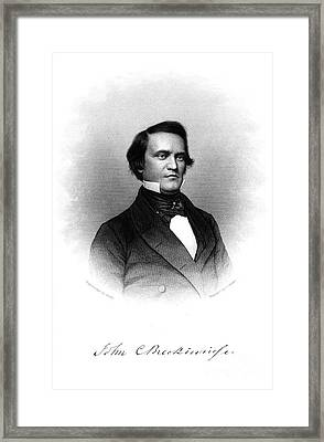 John Cabell Breckinridge Framed Print