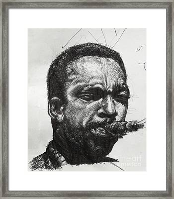 John Coltrane Framed Print by Mack Galixtar
