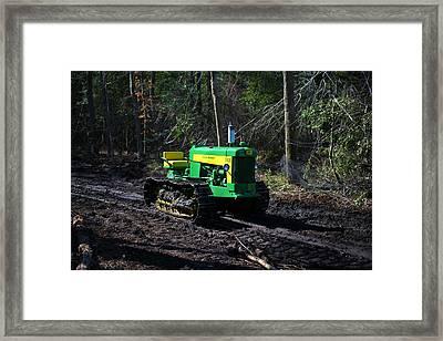 John Deere Tractor Model 430      Framed Print