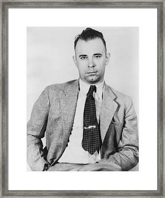 John Dillinger 1903-1934, Famous Bank Framed Print