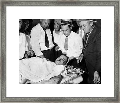 John Dillinger, Public Enemy No.1 Framed Print by Everett