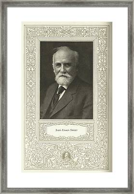 John Edson Sweet, Us Engineer Framed Print